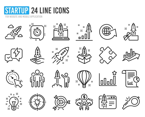 Startup icon collection vector