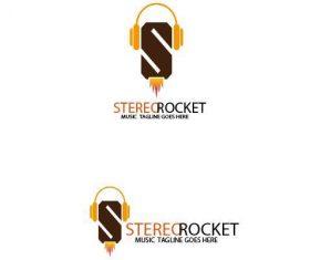 Stereo rocket logo vector
