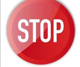 Stop prohibition sign vector