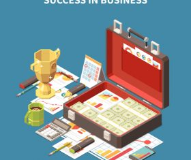 Success in business illustration vector