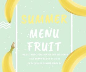 Summer Fruit Menu Flyer PSD Template