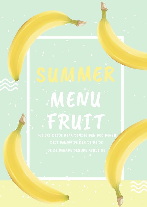 Summer Fruit Menu Flyer PSD Template