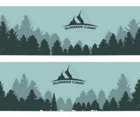 Summer camp background banner vector