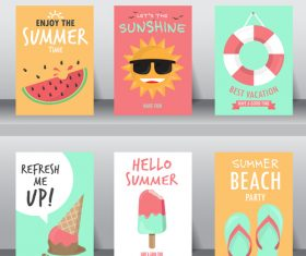 Summer card collection vector