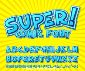 Super comic font vector