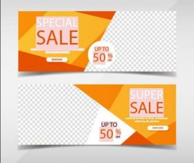 Super promotion banners template vector