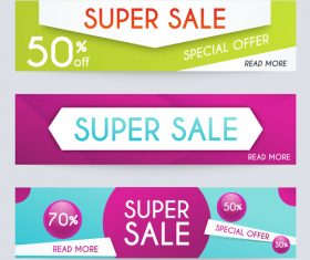 Supersale banner vector