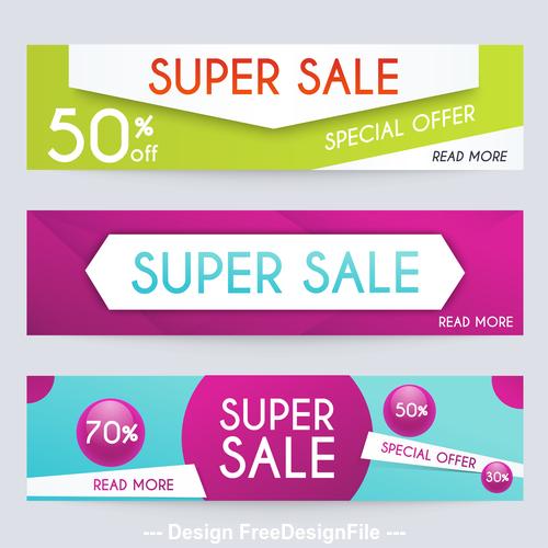 Supersale banner vector