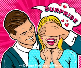 Surprise cartoon illustration vector