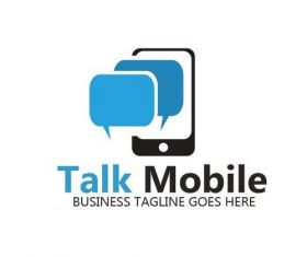 Talk Mobile logo vector