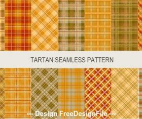 Tartan colored seamless pattern vector