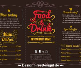 Template menu vector