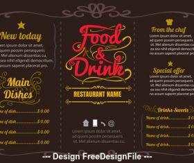 Template menu vector