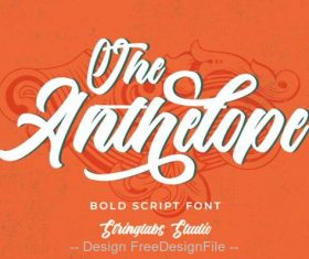 The Anthelope Fonts