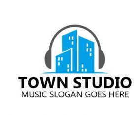 Town studio logo vector