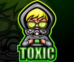 Toxic gaming mascot design vector