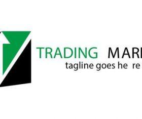 Trading market logo vector