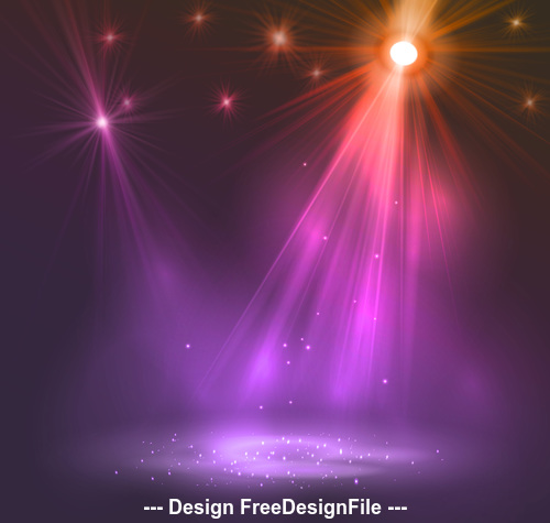 Transform stage lighting effect vector