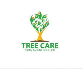 Tree care logo vector