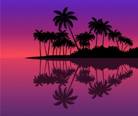 Tropical nature landscape vector