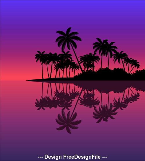 Tropical nature landscape vector