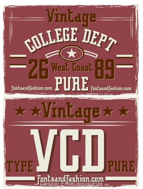 Vintage College DeptPure Font