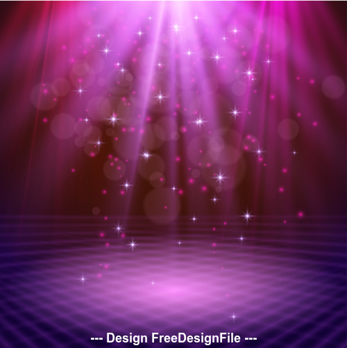 Virtual abstract light effect vector