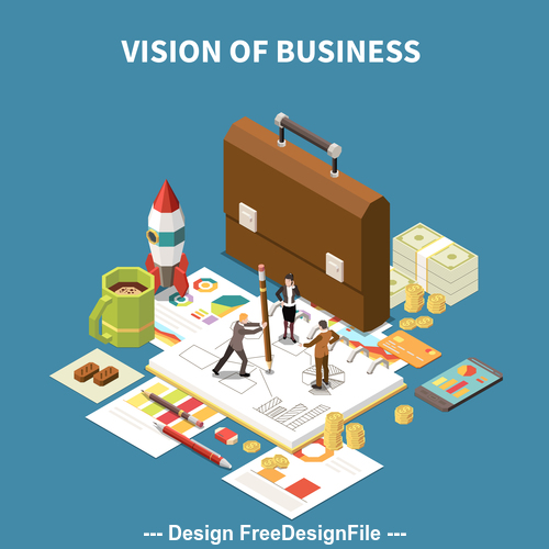 Vision of business illustration vector