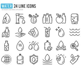 Water icon collection vector