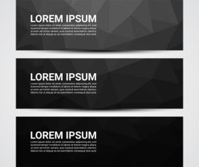 Web banner header layout template vector