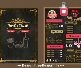 Weekly specials menu vector