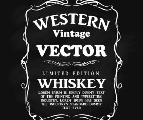 Western vintage vector label