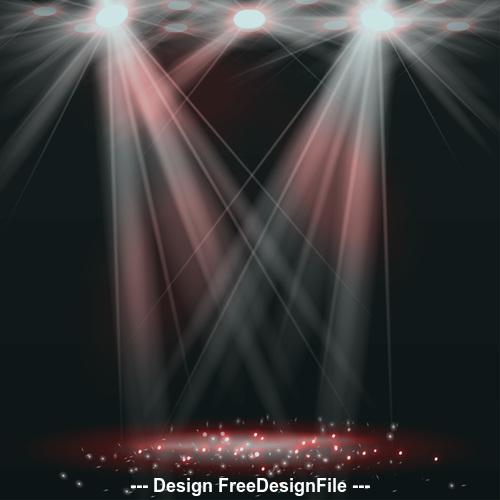 White spotlight effect background vector