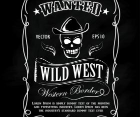 Wild west tags vector