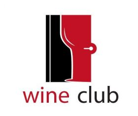 Wine club logo vector