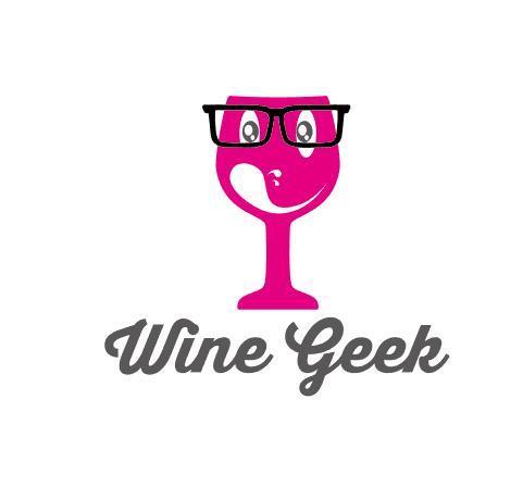 Wine geek logo vector