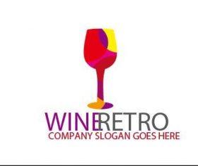 Wine retro logo vector