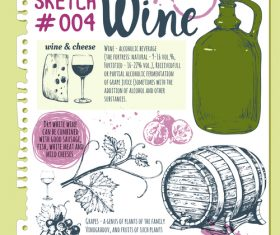 Wine sketch illustration vector