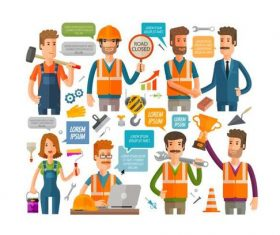 Worker vector icons