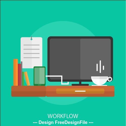 Workflow element vector