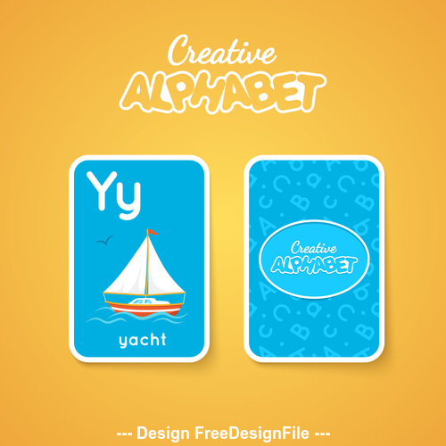 Y letter word and picture vector