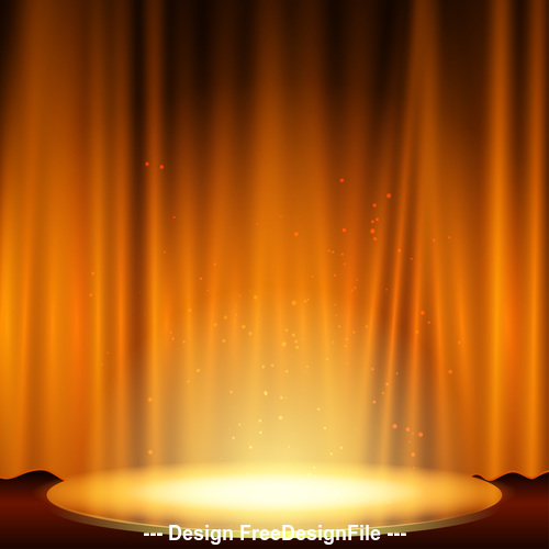Yellow spotlight effect vector