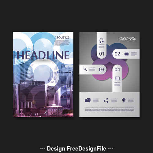 flyer brochure design template vector