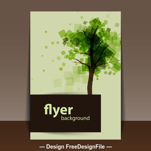 flyer sample text design template vector