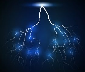 lightning branched double vector