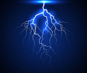 lightning on a dark background vector