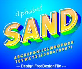 3D editable font effect text vector