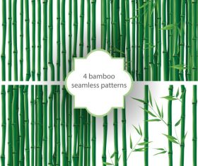 4 bamboo seamless pattern vector