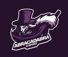 Abracadabra gaming logo vector