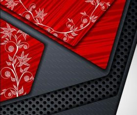 Abstract 3D art background vector
